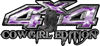 Cowgirl Edition with Boots 4x4 ATV Truck or SUV Vehicle Decal / Sticker Kit in Purple