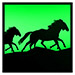 Green Sunset Horse