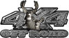 Deer Hunting Edition with Buck and Doe 4x4 ATV Truck or SUV Vehicle Decal / Sticker Kit in Diamond Plate