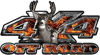 Deer Hunting Edition with Buck and Doe 4x4 ATV Truck or SUV Vehicle Decal / Sticker Kit in Inferno Flames