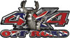 Deer Hunting Edition with Buck and Doe 4x4 ATV Truck or SUV Vehicle Decal / Sticker Kit with Confederate Rebel Flag