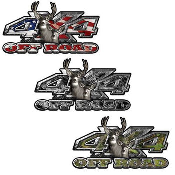 4x4 Offroad Decals Hunting Edition with Big Buck and Doe