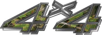 4x4 Chevy GMC Truck Style Bedside Sticker Set / Decal Kit in Camouflage