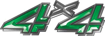 4x4 Chevy GMC Truck Style Bedside Sticker Set / Decal Kit in Green