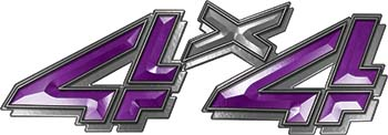 4x4 Chevy GMC Truck Style Bedside Sticker Set / Decal Kit in Purple