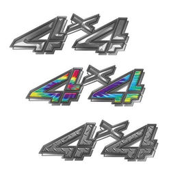 Custom 4x4 Decals for Chevy or GMC Pickup Truck
