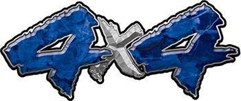 4x4 Chevy GMC Ford Toyota Dodge Truck Quad or SUV Sticker Set / Decal Kit in Blue Camouflage