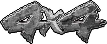 4x4 Chevy GMC Ford Toyota Dodge Truck Quad or SUV Sticker Set / Decal Kit in Gray Camouflage
