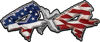 4x4 Chevy GMC Ford Toyota Dodge Truck Quad or SUV Sticker Set / Decal Kit with American Flag