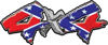 4x4 Chevy GMC Ford Toyota Dodge Truck Quad or SUV Sticker Set / Decal Kit with Rebel Confederate Flag