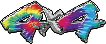 4x4 Chevy GMC Ford Toyota Dodge Truck Quad or SUV Sticker Set / Decal Kit in Tie Dye Colors