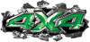 Ripped Torn Metal Tear 4x4 Chevy GMC Ford Toyota Dodge Truck Quad or SUV Sticker Set / Decal Kit in Green
