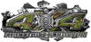 4x4 Firefighter Edition Ripped Torn Metal Tear Truck Quad or SUV Sticker Set / Decal Kit in Camouflage
