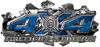 4x4 Firefighter Edition Ripped Torn Metal Tear Truck Quad or SUV Sticker Set / Decal Kit in Blue Camouflage