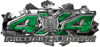 4x4 Firefighter Edition Ripped Torn Metal Tear Truck Quad or SUV Sticker Set / Decal Kit in Green Camouflage