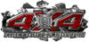 4x4 Firefighter Edition Ripped Torn Metal Tear Truck Quad or SUV Sticker Set / Decal Kit in Red Camouflage