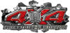 4x4 Firefighter Edition Ripped Torn Metal Tear Truck Quad or SUV Sticker Set / Decal Kit in Red Diamond Plate