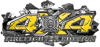4x4 Firefighter Edition Ripped Torn Metal Tear Truck Quad or SUV Sticker Set / Decal Kit in Yellow Diamond Plate