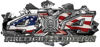 4x4 Firefighter Edition Ripped Torn Metal Tear Truck Quad or SUV Sticker Set / Decal Kit in American Flag