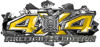 4x4 Firefighter Edition Ripped Torn Metal Tear Truck Quad or SUV Sticker Set / Decal Kit in Yellow