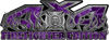 4x4 Firefighter Edition Truck Quad or SUV Decal Kit with Flames and Fire Rescue Maltese Cross in Purple Camouflage