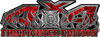 4x4 Firefighter Edition Truck Quad or SUV Decal Kit with Flames and Fire Rescue Maltese Cross in Red Camouflage