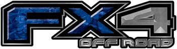 2015 Ford 4x4 Truck FX4 Off Road Style Decal Kit in Blue Camouflage
