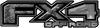 2015 Ford 4x4 Truck FX4 Off Road Style Decal Kit in Gray Camouflage