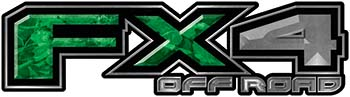 2015 Ford 4x4 Truck FX4 Off Road Style Decal Kit in Green Camouflage