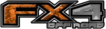 2015 Ford 4x4 Truck FX4 Off Road Style Decal Kit in Orange Camouflage