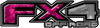 2015 Ford 4x4 Truck FX4 Off Road Style Decal Kit in Pink Camouflage