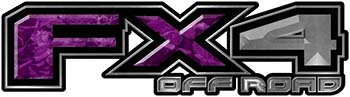 2015 Ford 4x4 Truck FX4 Off Road Style Decal Kit in Purple Camouflage