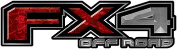 2015 Ford 4x4 Truck FX4 Off Road Style Decal Kit in Red Camouflage