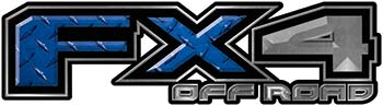 2015 Ford 4x4 Truck FX4 Off Road Style Decal Kit in Blue Diamond Plate