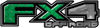 2015 Ford 4x4 Truck FX4 Off Road Style Decal Kit in Green Diamond Plate