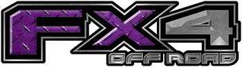 2015 Ford 4x4 Truck FX4 Off Road Style Decal Kit in Purple Diamond Plate