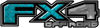 2015 Ford 4x4 Truck FX4 Off Road Style Decal Kit in Teal Diamond Plate
