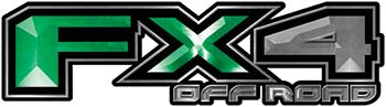 2015 Ford 4x4 Truck FX4 Off Road Style Decal Kit in Green