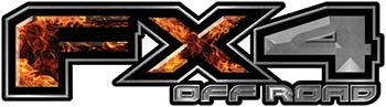 2015 Ford 4x4 Truck FX4 Off Road Style Decal Kit in Inferno Flames
