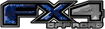 <p>2015 Ford 4x4 Truck FX4 Off Road Style Decal Kit in Blue Inferno Flames</p>