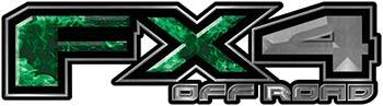 2015 Ford 4x4 Truck FX4 Off Road Style Decal Kit in Green Inferno Flames