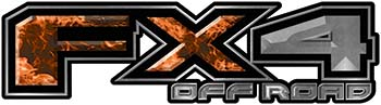 2015 Ford 4x4 Truck FX4 Off Road Style Decal Kit in Orange Inferno Flames