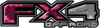 2015 Ford 4x4 Truck FX4 Off Road Style Decal Kit in Pink Inferno Flames