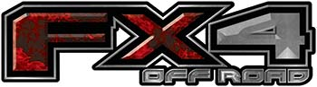 2015 Ford 4x4 Truck FX4 Off Road Style Decal Kit in Red Inferno Flames
