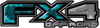 2015 Ford 4x4 Truck FX4 Off Road Style Decal Kit in Teal Inferno Flames