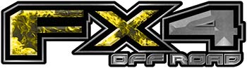 2015 Ford 4x4 Truck FX4 Off Road Style Decal Kit in Yellow Inferno Flames