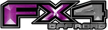 2015 Ford 4x4 Truck FX4 Off Road Style Decal Kit in Purple