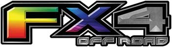 2015 Ford 4x4 Truck FX4 Off Road Style Decal Kit in Rainbow Colors