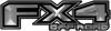 2015 Ford 4x4 Truck FX4 Off Road Style Decal Kit in Silver