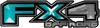 2015 Ford 4x4 Truck FX4 Off Road Style Decal Kit in Teal